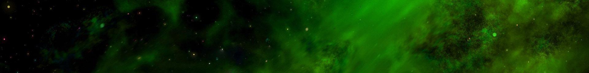 vesmír, zelený pruh